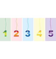 number signs vector image