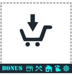 Online shopping icon flat vector