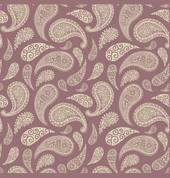 paisley floral pattern background pink red blue vector image