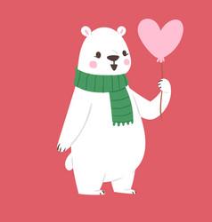 Polar white bear animal cute beauty vector