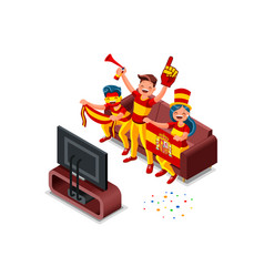 russia world cup spanish supporter vector image