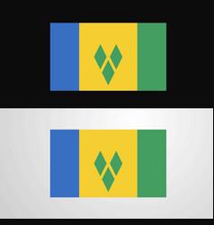 Saint vincent and grenadines flag banner design vector