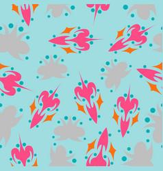 Seamless pattern vintage decorative elements vector