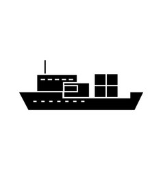 ship black icon concept ship sign symbo vector image