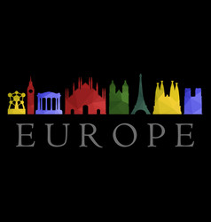 skyline europe vector image