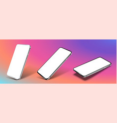 smartphone frame less blank screen rotated vector image