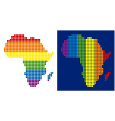spectrum pixel dotted africa map vector image