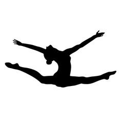 Split leap exercise gymnast vector