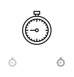 Stopwatch clock fast quick time timer watch bold vector