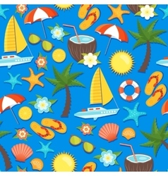 Summer Vacation Seamless Pattern vector image