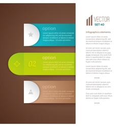 Three numbered tabs with descriptions vector image