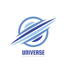 universe - concept business logo template vector image