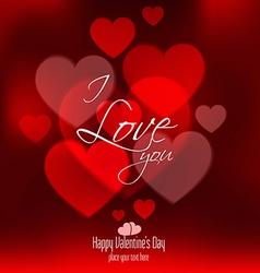 valentine card 4 vector image