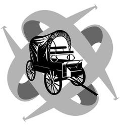 Vintage van to travel vector