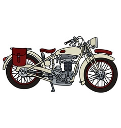 Vintage white motorcycle vector image