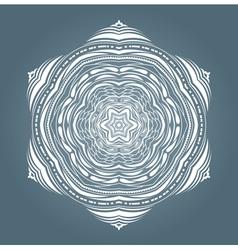 White snowflake vector image