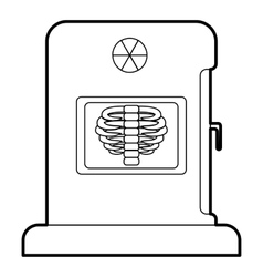 X-ray apparatus icon outline style vector