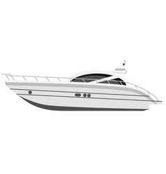 Yacht flat on white vector