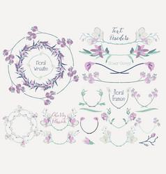 colorful floral design elements dividers frames vector image