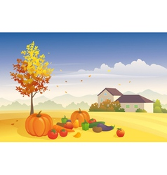 Harvest time vector image