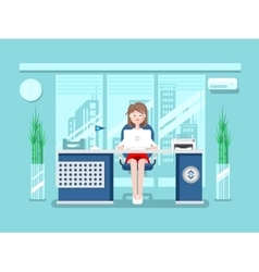 Secretary in office vector image vector image