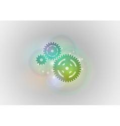 abstract tech cogwheel green vector image vector image