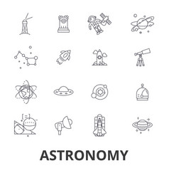 astronomy astrology space star telescope vector image vector image