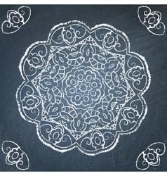 Chalkboard ornament vector image vector image