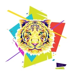 Color tiger head vector image vector image