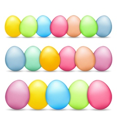 Colored Easter Eggs vector image vector image