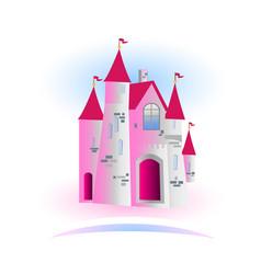 fairy tale princess castle vector image vector image