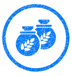 grain harvest sacks rounded grainy icon vector image