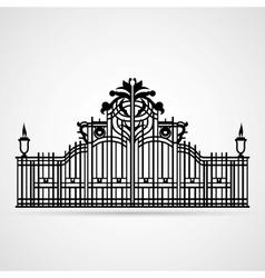 Ornamental gate vector