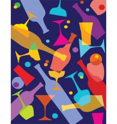 wine and alcohol vector image vector image