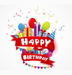 Birthday celebration element vector