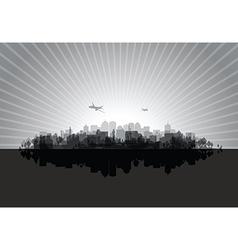 black cityscape vector image vector image