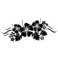 floral border silhouette vector image vector image