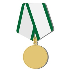 Golden medal vector image vector image