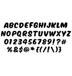 Handwritten style modern font vector