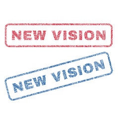 new vision textile stamps vector image