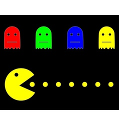 old computer game characters vector image