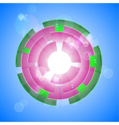 Pink shiny background vector image