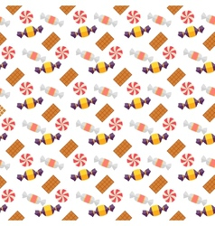 Sweet scandy and cookies seamless pattern vector image vector image