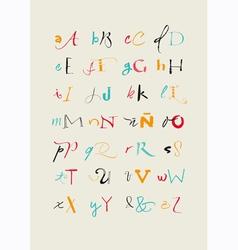 Calligraphic hand written alphabet vector image