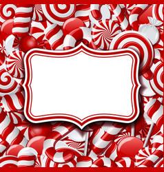 Frame labels on sweet background vector image vector image