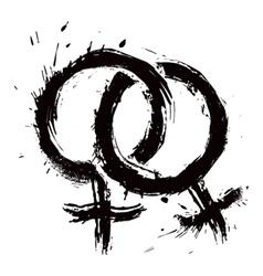 Homosexual womans love vector image
