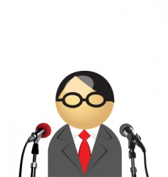 interview icon vector image