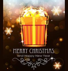 orange christmas gift on holiday background vector image