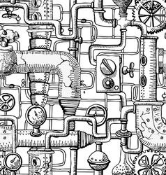 Seamless pattern steampunk vector