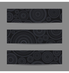 Set of lace banners vector image